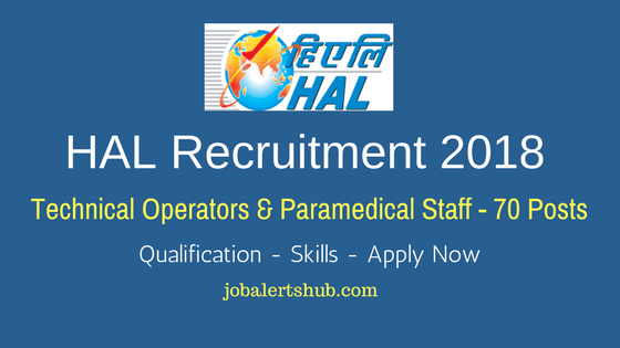 HAL Recruitment 2018 Technical Operators & Paramedical Staff Job Notification