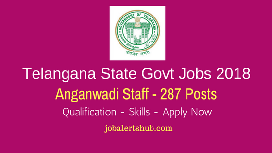 Telangana State Govt Jobs 2018 WDCW Anganwadi Rangareddy Job Notification