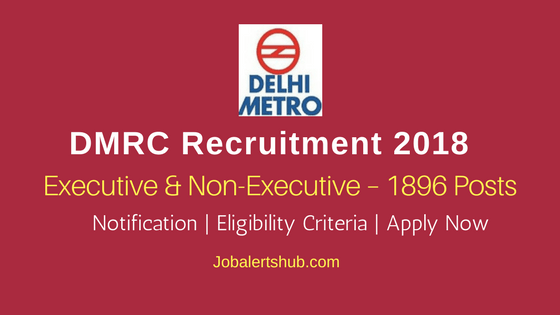DMRC Executive & Non-Executive Recruitment 2018