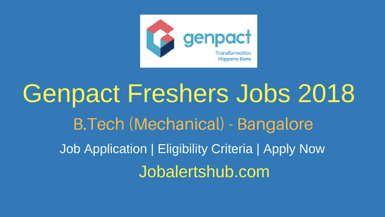Genpact-Freshers-Jobs-Bangalore-2018-For-B.Tech-Mechanical-Job-Announcement