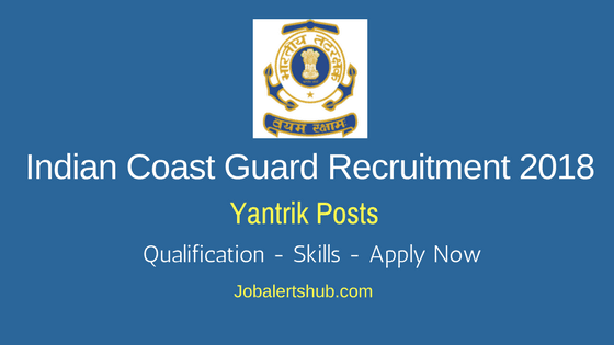 Indian-Coast-Guard-Yantrik-Recruitment-2018-Notification