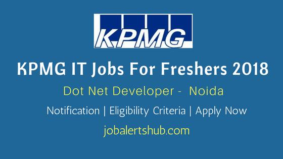 KPMG-Walk-In-Jobs-For-Freshers-Dot-Net-Developer-In-Noida-Job-Notification