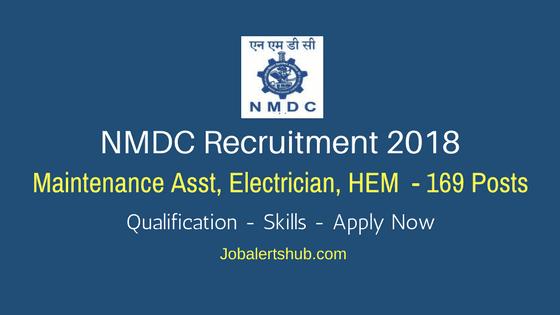NMDC-Recruitment-2018-Maintenance-Asst,-Electrician,-HEM-Job-Notification