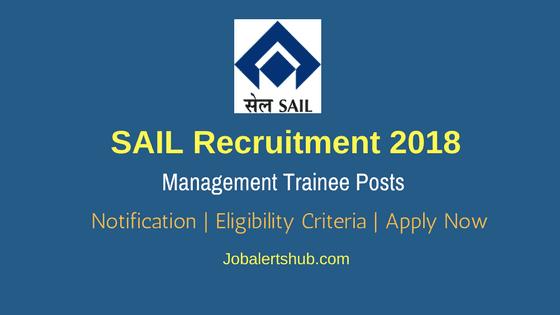 SAIL-Recruitment-2018-Management-Trainee-Job-Notification
