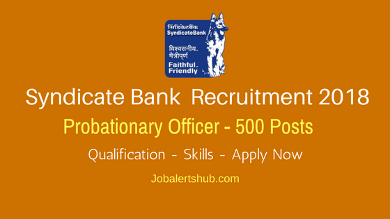 Syndicate-Bank-Probationary-Officer-Recruitment-2018-Job-Notification