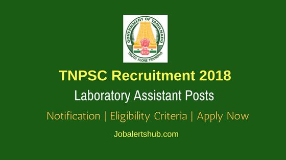 TNPSC-Laboratory-Assistant-Recruitment-2018-Notification