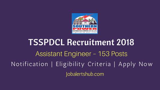 TSSPDCL-Assistant-Engineer-Recruitment-2018-Job-Notiifcation