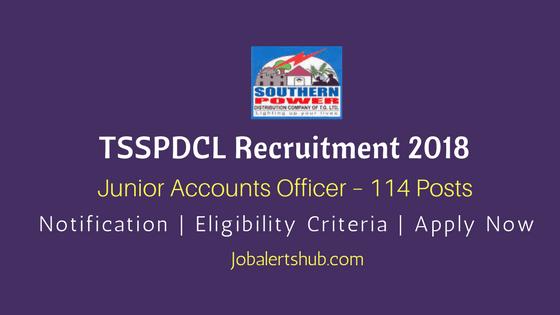 TSSPDCL-Junior-Accounts-Officer-Recruitment-2018-Job-Notification