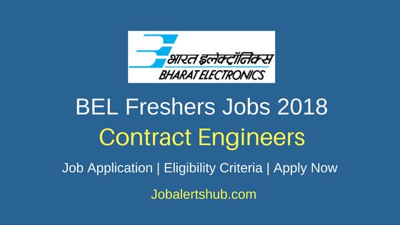 BEL 2018 Contract Engineers Recruitment Notification