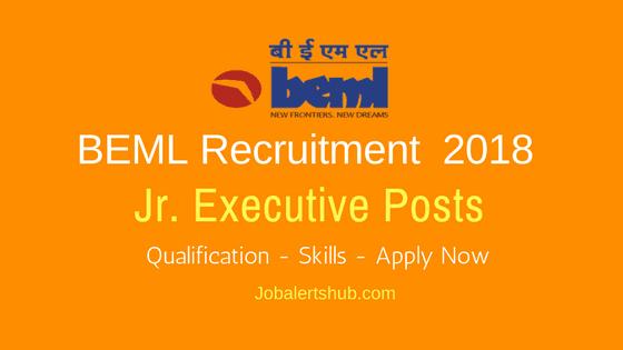 BEML-Recruitment-Jr.-Executive-Posts-2018-Job-Notification