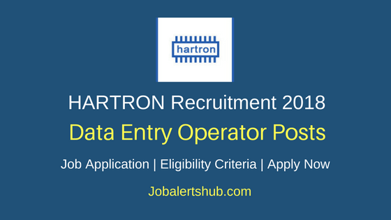 HARTRON DEO Recruitment 2018 Data Entry Operator Job Notification