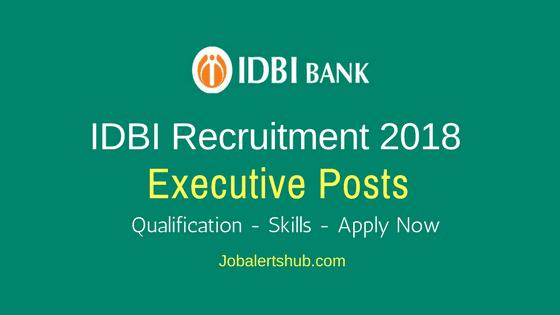 IDBI-Executive-Posts-Recruitment-2018-Job-Notification
