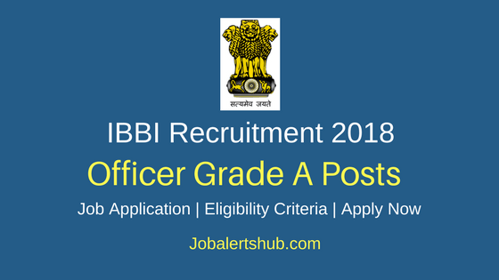 Insolvency and Bankruptcy Board of India IBBI 2018 Officer Grade A Assistant Manager Recruitment Notification