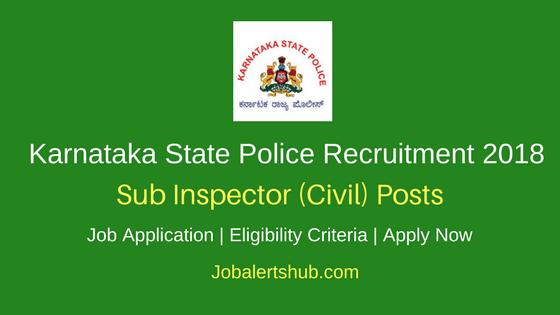 KSP 2018 Sub Inspector (Civil) Posts
