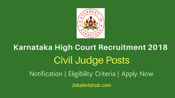 Karnataka-High-Court-2018-Civil-Judge-Posts