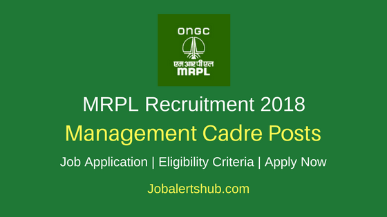 Mangalore Refinery And Petrochemicals Limited MRPL Recruitment 2018 Management Cadre Jobs