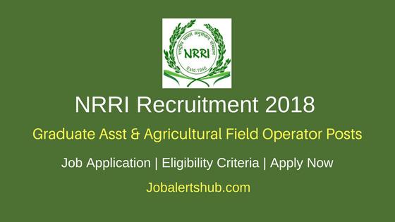 NRRI 2018 Graduate Asst & Agricultural Field Operator Jobs