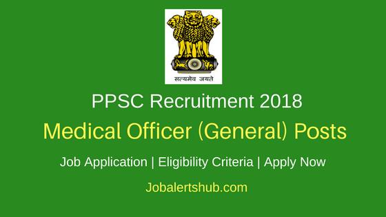 PPSC Medical Officer Recruitment 2018 Job Notification