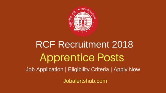RCF Kapurthala Recruitment 2018 Apprentice Jobs Notification