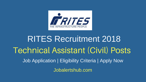 RITES 2018 Technical Assistant (Civil) Notification