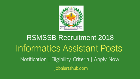 Rajasthan Subordinate and Ministerial Services Selection Board RSMSSB Informatics Assistant 2018 Recruitment
