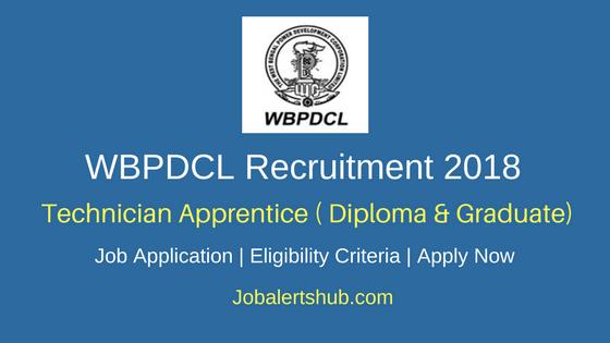 WBPDCL Recruitment 2018 Technician Apprentice Jobs Recruitment Notiifcation