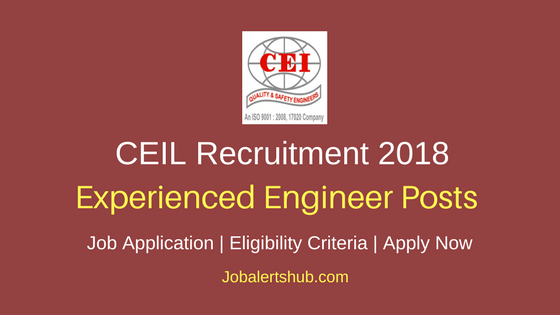 CEIL Construction Welding NDT Engineers Others Recruitment 2018