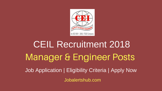 CEIL Supply Chain Manager & Planning Engineer Recruitment 2018-2