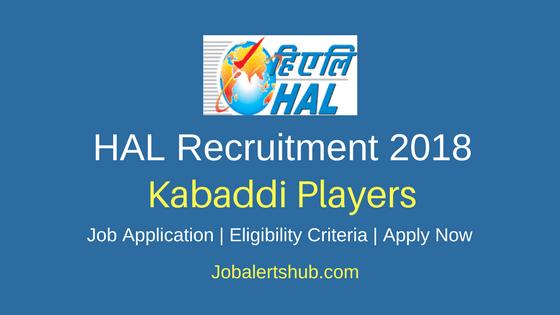 HAL Kabaddi Players Recruitment 2018