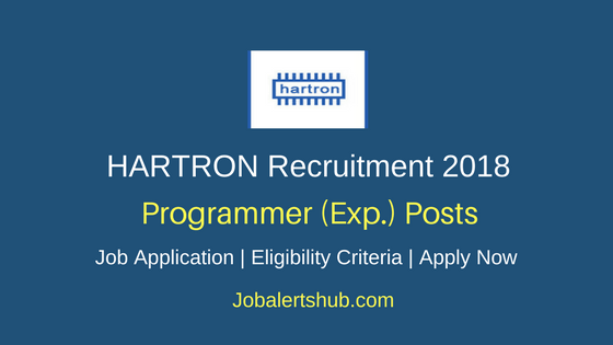 HARTRON Programmer (Exp.) Recruitment 2018 Job Notification
