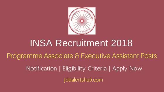 Indian National Science Academy INSA Associate & Asst Recruitment 2018 Notification