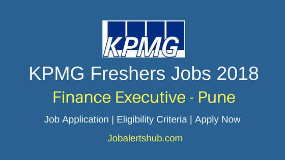 KPMG Freshers Noida Finance Executive Jobs 2018 Recruitment Notification