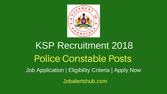 KSP SRP Constable & PC- IRB Recruitment 2018