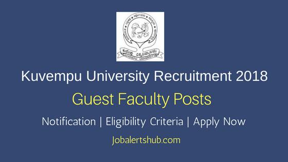 Kuvempu University Guest Faculty Recruitment 2018 Job Notification