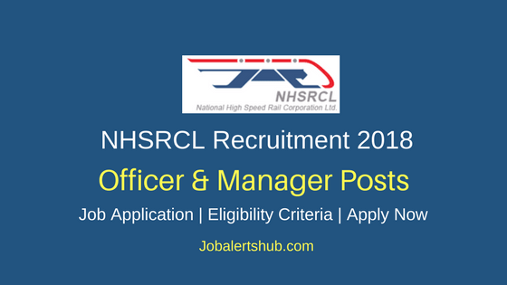 NHSRCL Officer & Manager Recruitment 2018