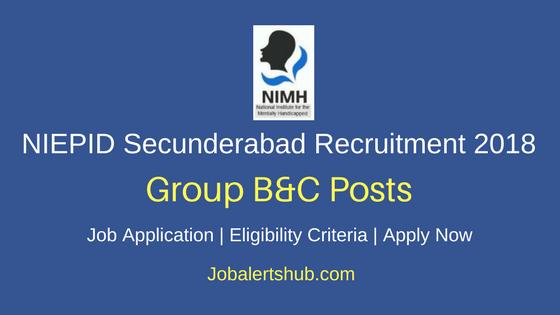 NIEPID Secunderabad Teacher & Stenographer Recruitment 2018