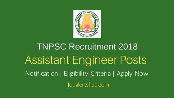TNPSC Assistant Engineer 2018 Recruitment