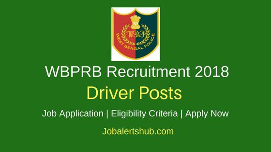 West Bengal Police Recruitment Board WBPRB Driver 2018 Recruitment Job Notification