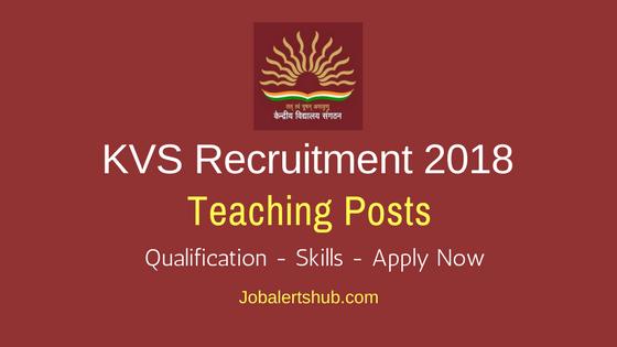 KVS Vice Principal, PGT, TGT & Head Master Recruitment 2018