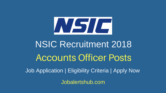 NSIC Accounts Officer Recruitment 2018