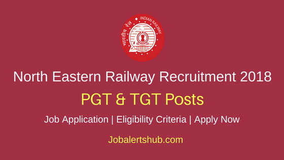 North Eastern Railway PGT & TGT Recruitment 2018