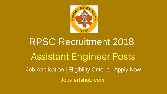 RPSC PWD Assistant Engineer AEN JEN Recruitment 2018