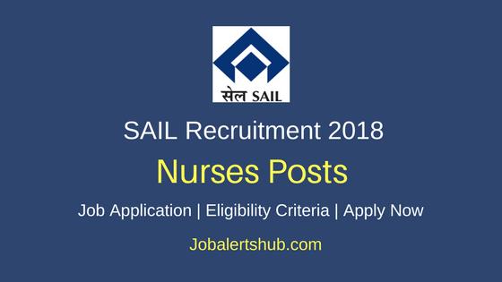 SAIL Nurses Proficiency Trainees Recruitment 2018
