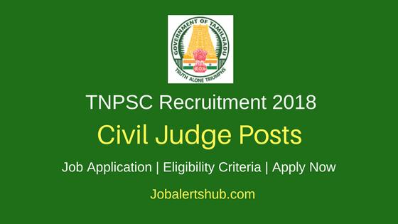 TNPSC Civil Judge Recruitment 2018 Notification