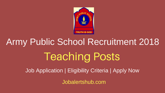 Army Public School Teaching Job Notification