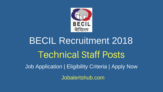 BECIL Technical Staff Job Notification