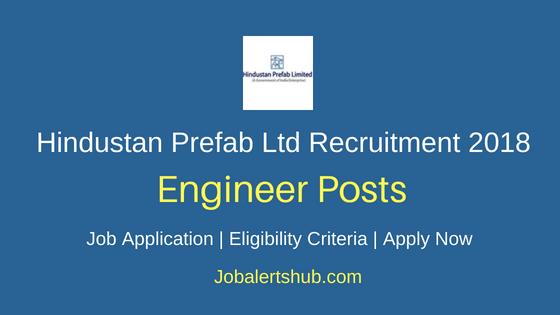 Hindustan Prefab Ltd Engineer Recruitment Notification