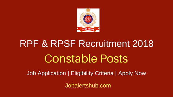 RPF & RPSF Constable RecruitmentNotification