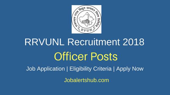 RRVUNL Officer Recruitment Notification