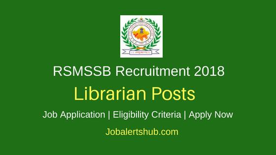 RSMSSB Librarian Recruitment